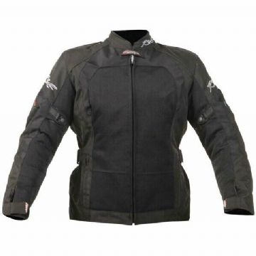 RST Ladies 1184 Ventilated Brooklyn Textile Motorcycle Motorbike Jacket - Black